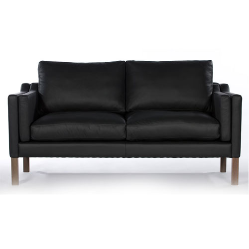REPLICA BORGE MOGENSEN 2 SEATER SOFA (HALF LEATHER)
