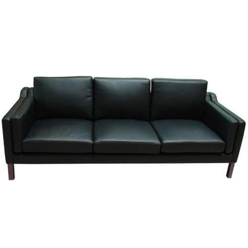 REPLICA BORGE MOGENSEN 3 SEATER SOFA (HALF LEATHER)