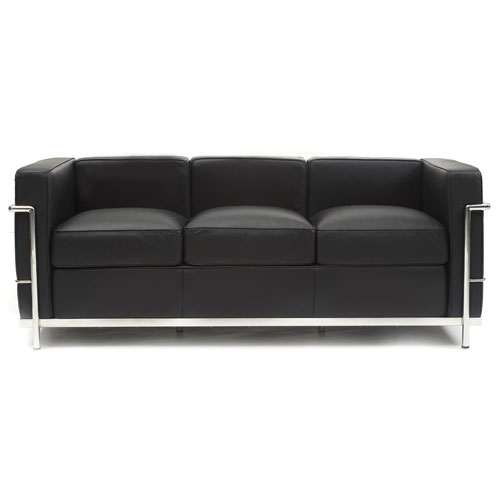 REPLICA LC2 3 SEATER SOFA (HALF LEATHER)