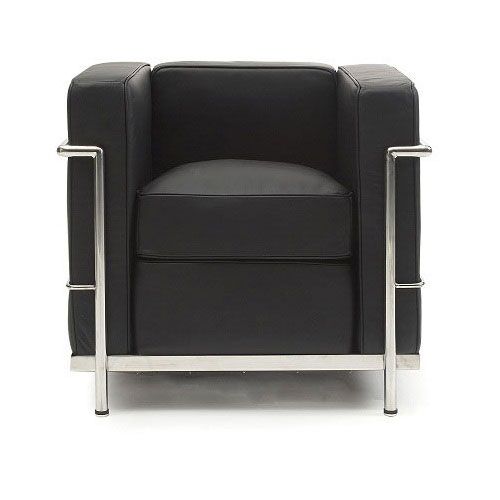 REPLICA LC2 ARMCHAIR (HALF LEATHER)