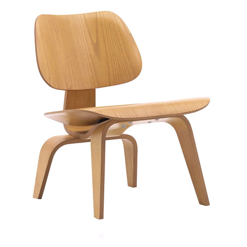 EAMES STYLE LCW (LOUNGE CHAIR WOOD BASE)