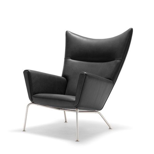 ... REPLICA HANS WEGNER WING CHAIR (FULL LEATHER). Previous; Next