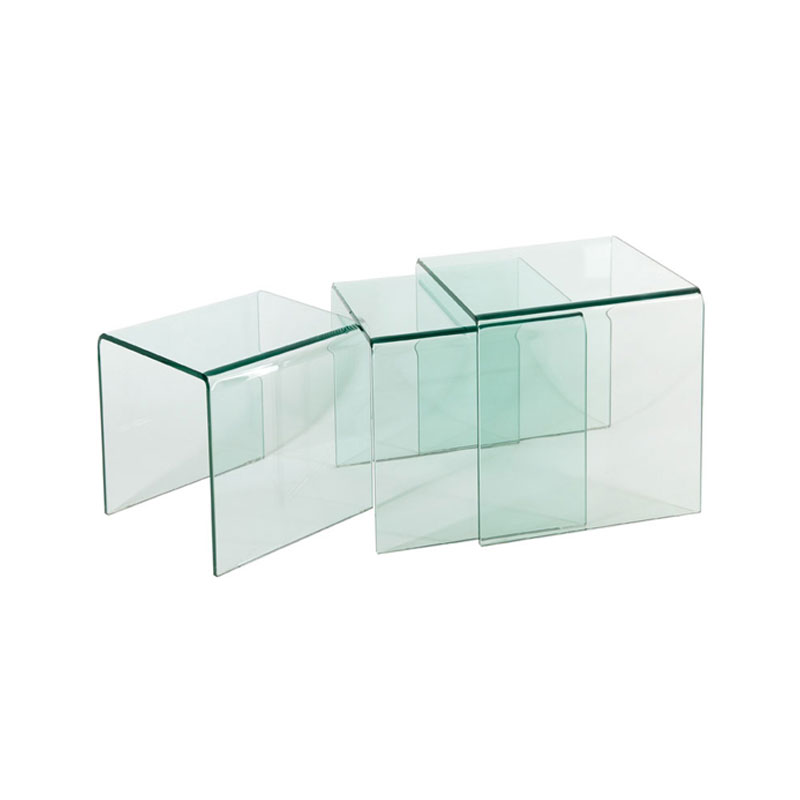 Lily bent glass nesting table set of 3 furniture online thailand lily bent glass nesting table set of 3 watchthetrailerfo