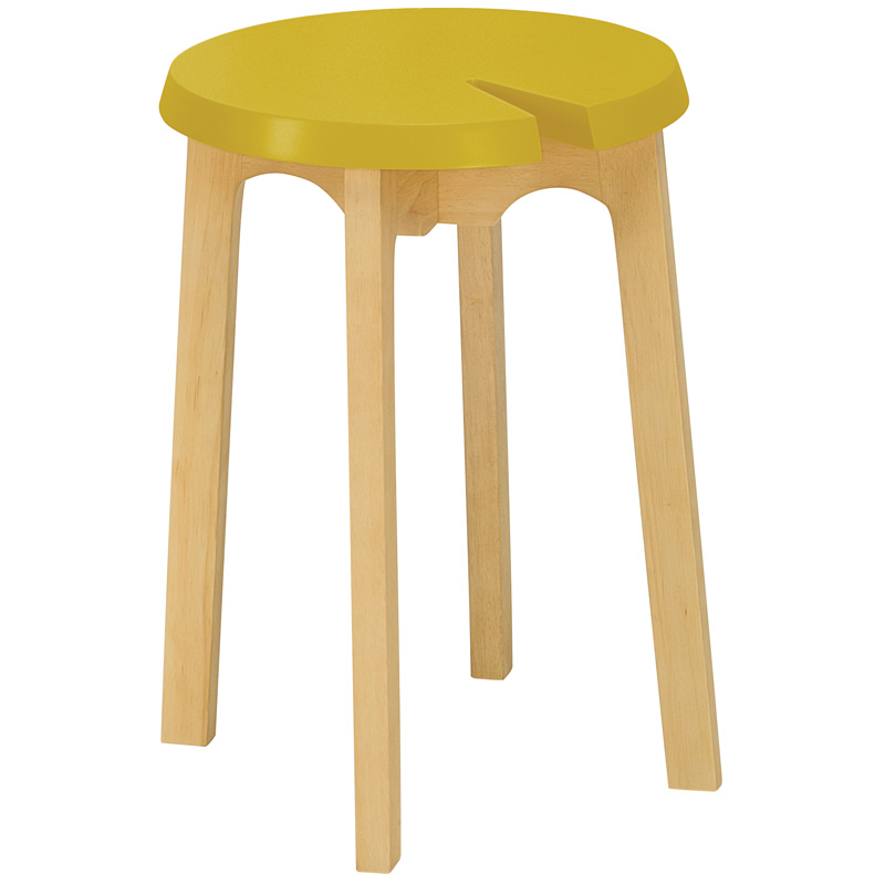 KORY NORDIC HOME LOW WOODEN STOOL