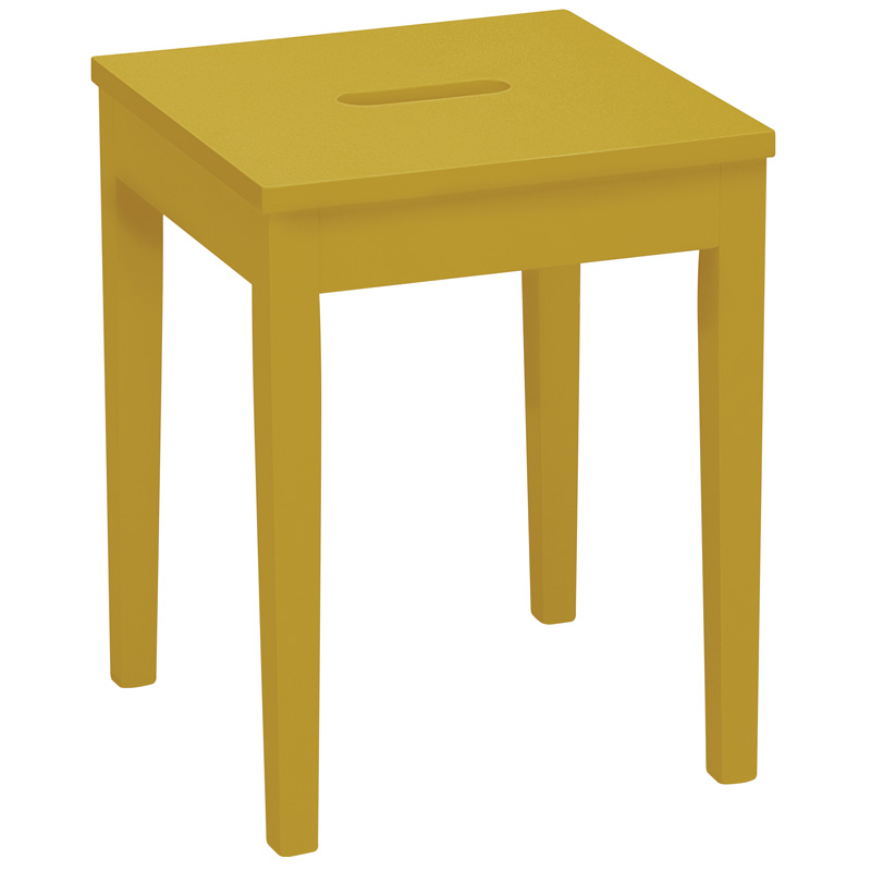 TYRA LOW WOODEN STOOL