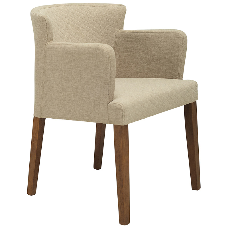 KYLIE NORDIC HOME DINING CHAIR WITH ARMREST (FABRIC)