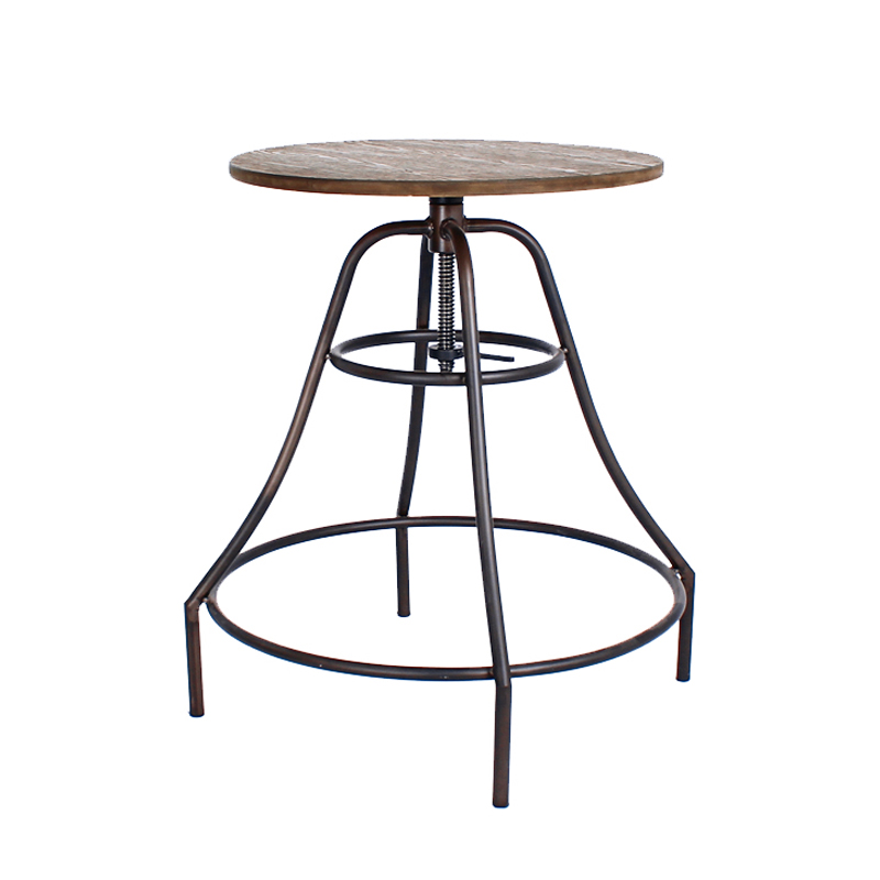 CITE VINTAGE INDUSTRIAL BAR TABLE (WOOD TOP)