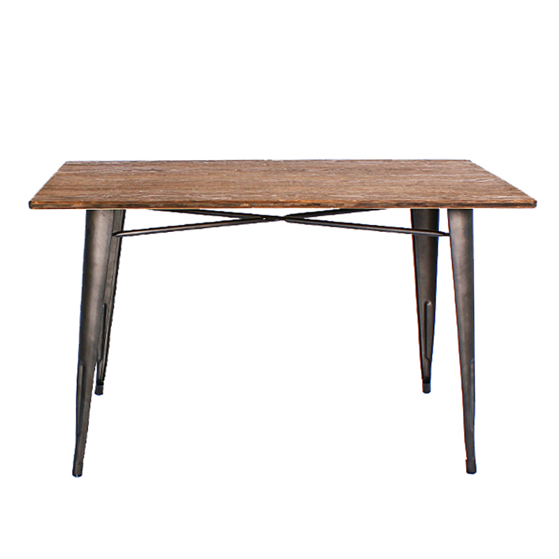 KELL INDUSTRIAL STYLE RECTANGLE DINING TABLE (140 CM)