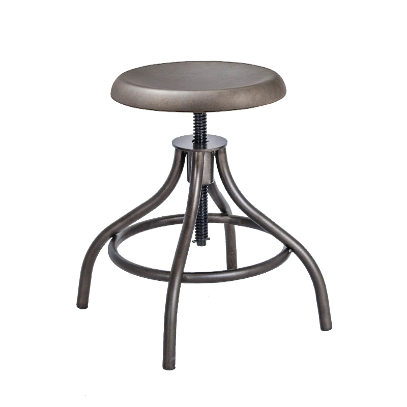 DERBY VINTAGE INDUSTRIAL LOW STOOL