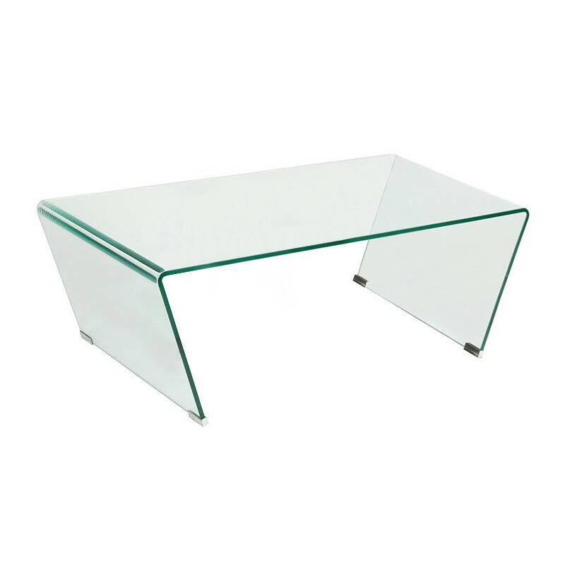 VENUS BENT GLASS COFFEE TABLE (SMALL)