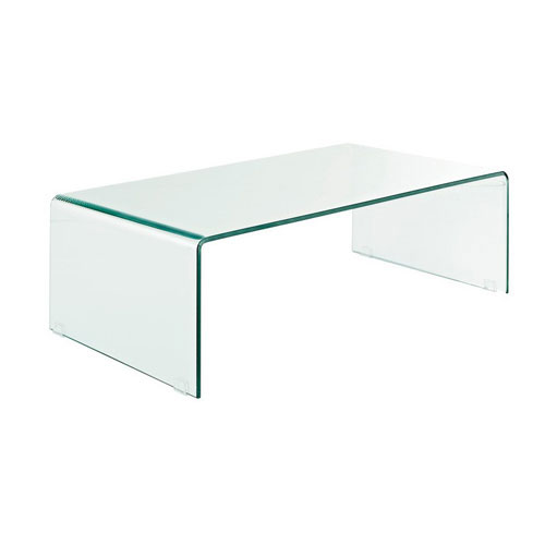 URBANA BENT GLASS COFFEE TABLE