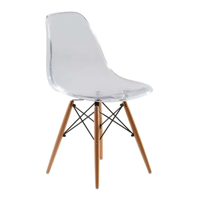 EAMES STYLE DSW CHAIR (TRANSPARENT)
