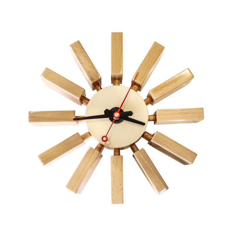 BLOCK WOODEN CLOCK - WALL CLOCK