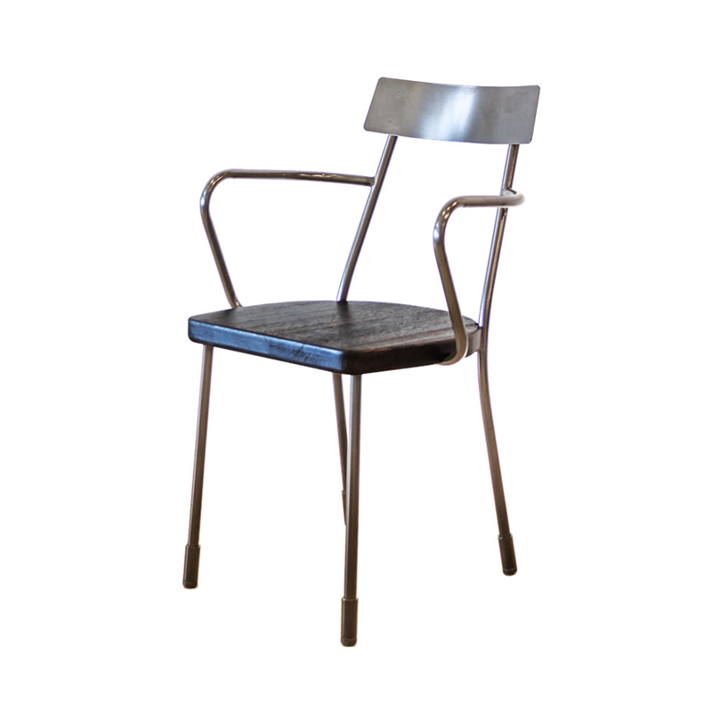 FUSE INDUSTRIAL STYLE DINING CHAIR WITH ARMREST
