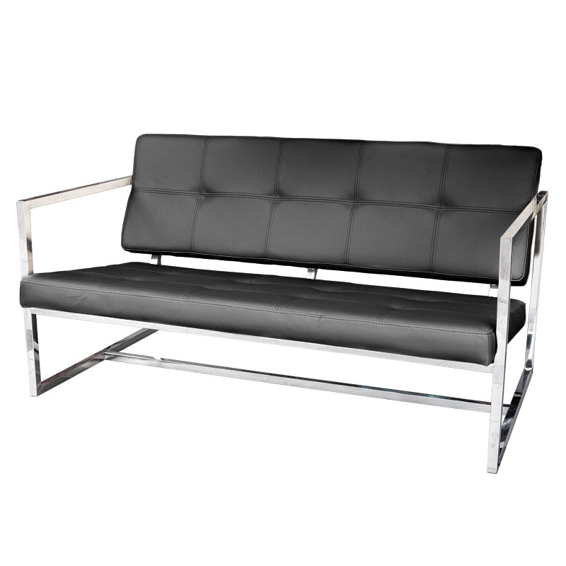 REPLICA GUS MODERN DELANO 2 SEAT SOFA (HALF LEATHER)