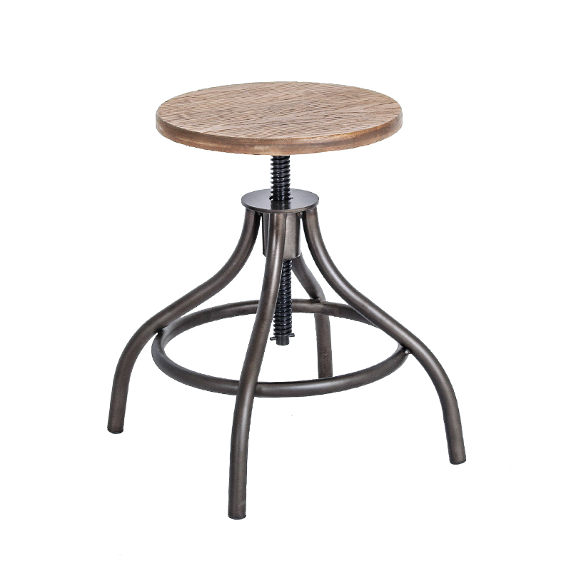 INDUSTRIAL STYLE LOW STOOL