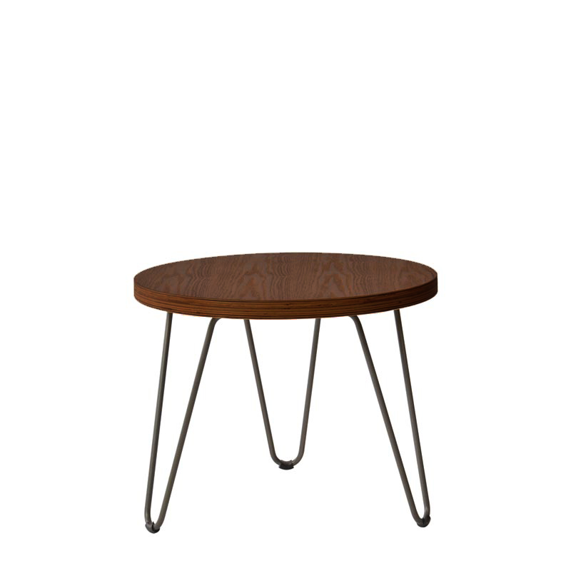 FLASH WOOD TOP ROUND COFFEE TABLE