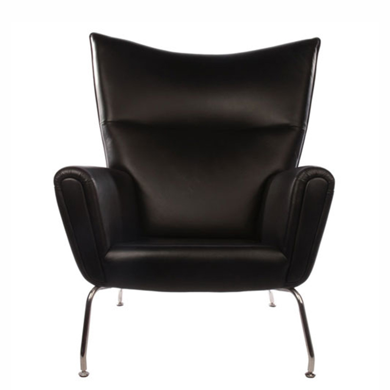 REPLICA HANS WEGNER WING CHAIR (FULL LEATHER)