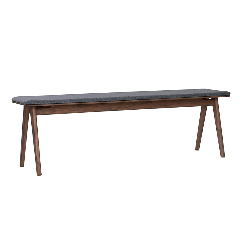 FLYNN DINING BENCH (WALNUT WOOD)