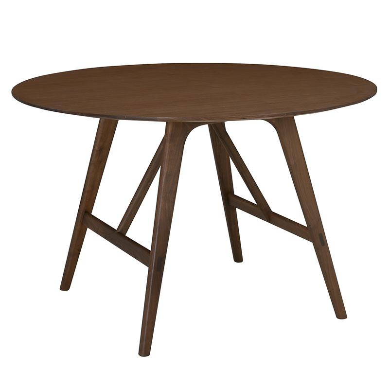 TRAVIS ROUND DINING TABLE (WALNUT)
