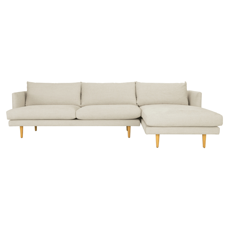 DUSTER 3 SEATER SOFA WITH LEFT CHAISE (FABRIC)