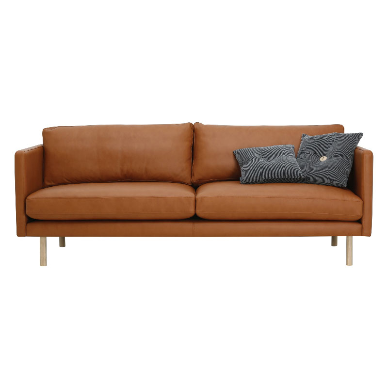 NOLAN 3 SEATER SOFA (LEATHER)