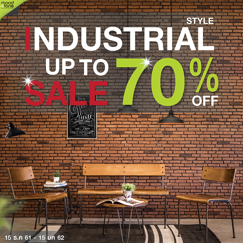 INDUSTRIAL STYLE FURNITURE SALE UP TO 70%