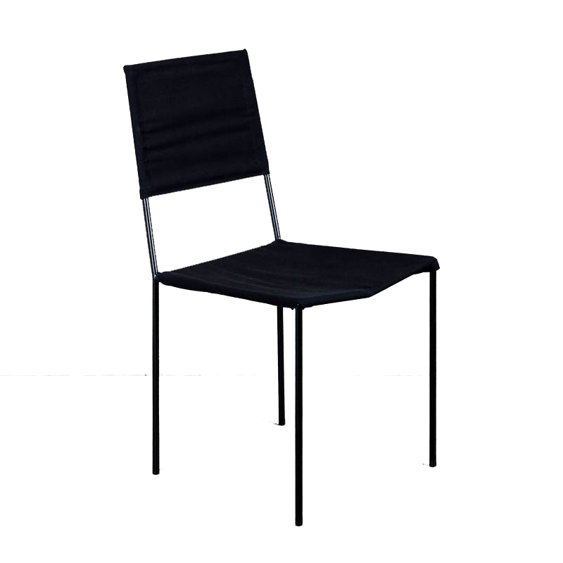 ROUNDIRON CHAIR (BLACK CANVAS)