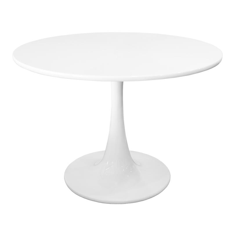 REPLICA TULIP TABLE - ROUND FIBERGLASS TOP (105 CM)
