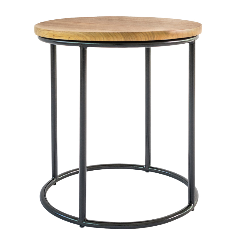 BROOKLYN SIDE TABLE - SOLID WOOD TOP