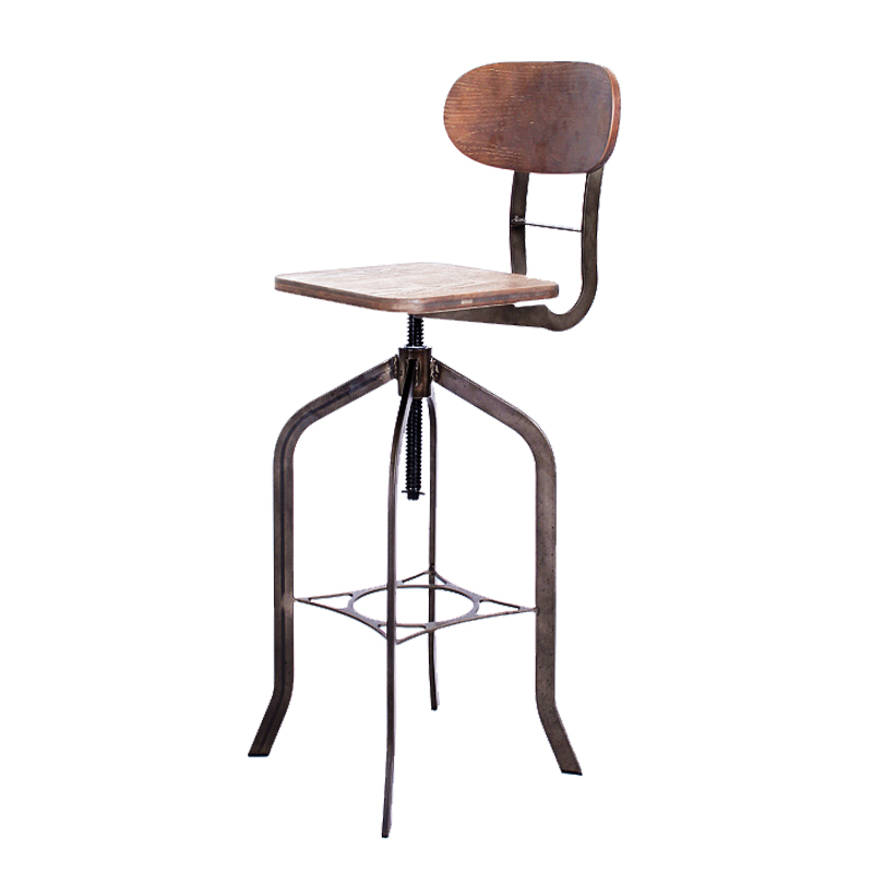 DREW VINTAGE INDUSTRIAL HEIGHT ADJUSTABLE BAR STOOL