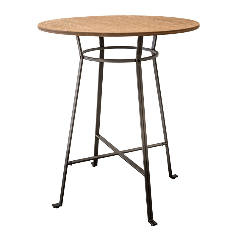TRINA WOOD TOP INDUSTRIAL BAR TABLE (DISPLAY ITEM)