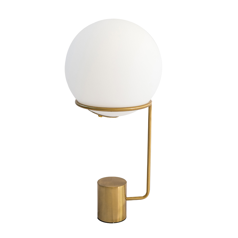 TABLE LAMP WALKIN THE MOON GOLD ELECTROPLATE