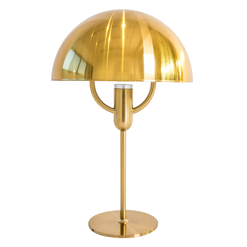 TABLE LAMP OMBRELLA GOLD ELECTROPLATE