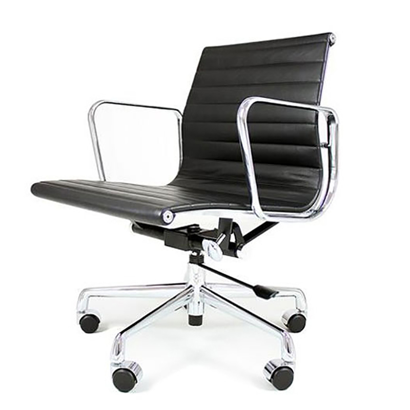 REPLICA EAMES LOW BACK OFFICE CHAIR (FULL LEATHER)