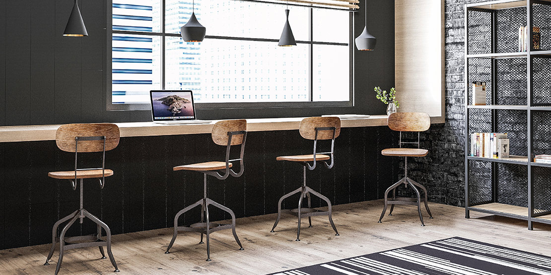 CAFE & RESTAURANT | INDUSTRIAL | DEREK WOOD SEAT VINTAGE