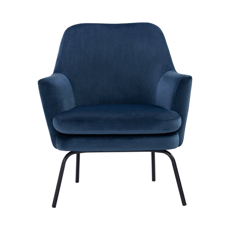 CARRIE LOUNGE CHAIR - BLUE 3608