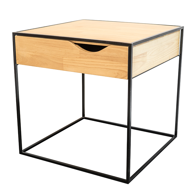 LOFT STYLE SIDETABLE WITH DRAWER