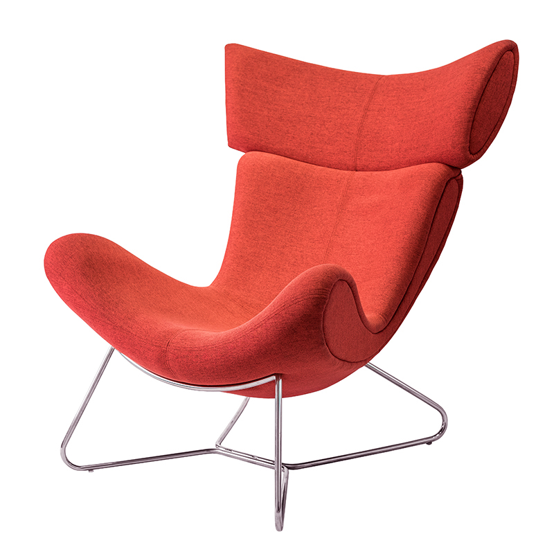SURYA LOUNG CHAIR WITH HEADREST (FABRIC)
